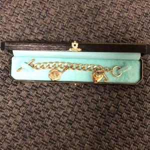 VINTAGE Juicy Couture Gold Charm Bracelet w/box
